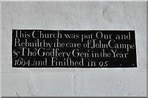 TM5286 : Kessingland, St. Edmund's Church: Wall plaque 1 by Michael Garlick