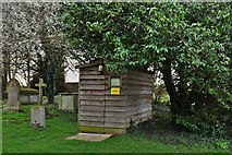 TL8866 : Great Barton: Holy Innocents Church: Toilet facility next to the tower by Michael Garlick