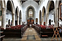 TL8866 : Great Barton: Holy Innocents Church: The nave by Michael Garlick