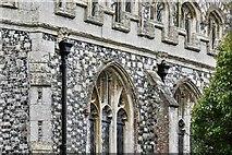TL8866 : Great Barton: Holy Innocents Church: Two gargoyles by Michael Garlick