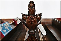 TL8866 : Great Barton: Holy Innocents Church: Finely carved poppyhead 19 by Michael Garlick
