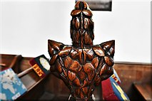 TL8866 : Great Barton: Holy Innocents Church: Finely carved poppyhead 21 by Michael Garlick