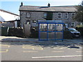 SO0900 : Blue bus shelter, High Street, Bedlinog by Jaggery