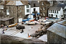 SW9980 : The Harbour, Port Isaac by Peter Jeffery