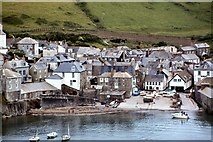 SW9980 : Port Isaac and its small harbour by Peter Jeffery