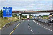 S7371 : Bridge over the M9 at Ballybar by David Dixon