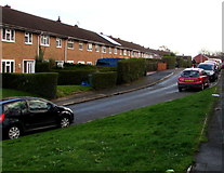 ST2896 : Houses on the east side of Trinity Road, Pontnewydd, Cwmbran by Jaggery