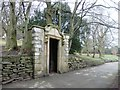 SE1634 : Stone Doorway in Peel Park by Stephen Armstrong