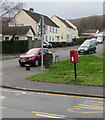 ST2896 : Queen Elizabeth II postbox, Five Locks Road, Cwmbran by Jaggery