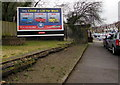 ST0789 : The Trade Centre advert alongside the A473 Broadway, Treforest by Jaggery