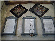 SO2459 : Memorials inside St. Stephen's Church (Nave | Old Radnor) by Fabian Musto