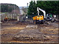 NZ1366 : Hadrian's Wall uncovered at development site by Andrew Curtis