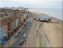 NZ6025 : Newcomen Terrace and Redcar seafront by Malc McDonald