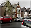 ST3288 : White blossom in early March, Summerhill Avenue, Newport by Jaggery