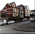 ST3288 : Christchurch Road houses alongside a steep ascent, Newport by Jaggery