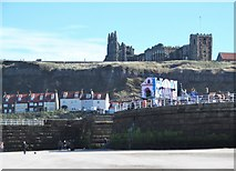 NZ8911 : Secular and sacred in Whitby by Gordon Hatton