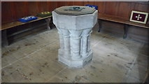 SO2160 : St. Mary's Church (Font   New Radnor) by Fabian Musto
