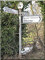 SJ5405 : Old Direction Sign - Signpost by Milestone Society