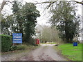 TQ4862 : Broke Hill Golf Club car park entrance, near Knockholt by Malc McDonald
