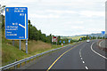 S5753 : Northbound M9 approaching Junction 8 for Kilkenny by David Dixon