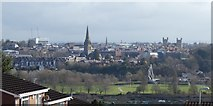 SX9192 : The skyline of Exeter from Redhills by David Smith