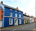 SM9516 : Blue house in Prendergast, Haverfordwest by Jaggery