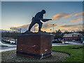 SJ8748 : John Baskeyfield memorial statue, Festival Park by Brian Deegan