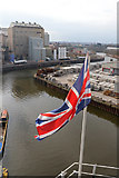SJ6475 : Anderton Boat Lift - flag by Chris Allen