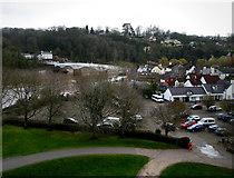 ST5394 : Chepstow Castle car park by Chris Gunns