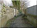 SE2337 : Urban footpath off Newlaithes Gardens by Stephen Craven