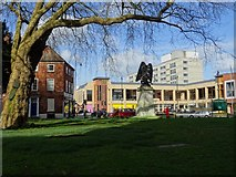 SO8554 : Cathedral Square viewed from in front of Worcester Cathedral by Philip Halling