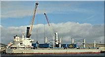 "J3576 : The ""Action Trader"", Belfast harbour (March 2019) by Albert Bridge"