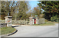 SU2363 : Gate to the Forest Hotel by Des Blenkinsopp