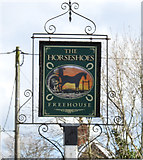 TM1678 : Sign of The Horseshoes, public house by Adrian S Pye