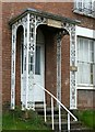 SO8418 : Filigree porch, 138 London Road, Gloucester by Alan Murray-Rust