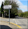 SS5889 : Bishopston Sports Centre direction sign by Jaggery