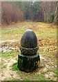 TQ5335 : Acorn Wood Sculpture by John P Reeves