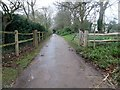 TQ0523 : Driveway to Lee Place House and Farm by Peter Holmes