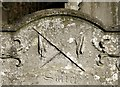 TG2408 : Gravestone symbolism (Crossed lances) by Evelyn Simak