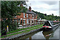 SJ9553 : Canalside housing at Denford in Staffordshire by Roger  Kidd