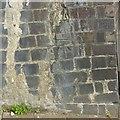 SO8318 : Bench mark, Worcester Street railway bridge by Alan Murray-Rust