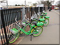 TQ2081 : Lime-E electric assist hire bikes, Acton Main Line Station by David Hawgood