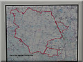TL8296 : Sign with map showing extent of STANTA by David Pashley