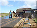 SZ1691 : Hengistbury Head Visitor Centre by Des Blenkinsopp