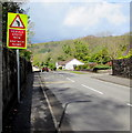 SS7799 : Reduce Speed Now/Arafwch Nawr, Dulais Fach Road, Tonna by Jaggery