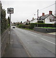 ST2583 : Speed camera warning sign, Marshfield Road, Castleton by Jaggery