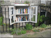 NT2574 : Little Free Library, Scotland Street by M J Richardson