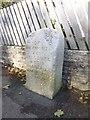 SY6678 : Old Boundary Marker by Milestone Society