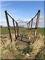 NZ3134 : Rusted footbridge by David Robinson