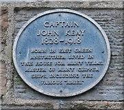 NO5603 : Blue plaque commemorating Captain John Keay by Richard Sutcliffe